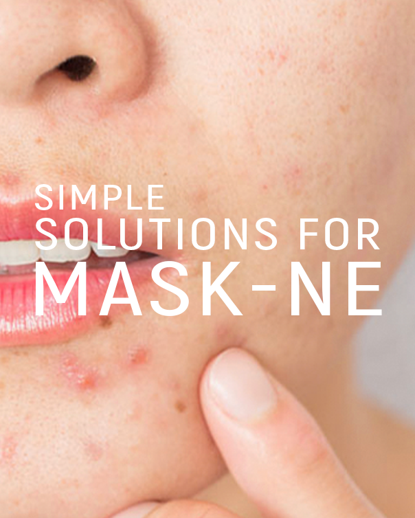 Skin solutions for irritation issues your skin is experiencing from face masks.