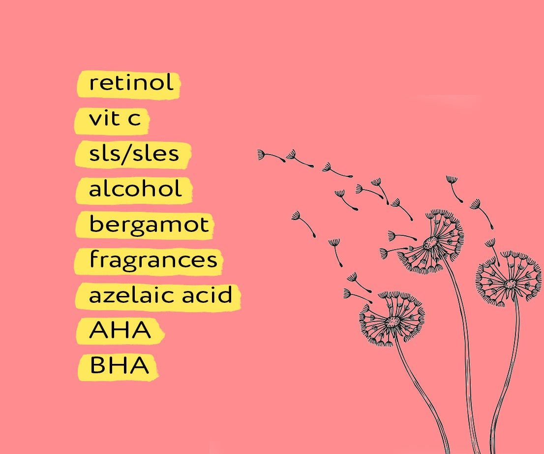 when having an allergic reaction avoid these ingredients