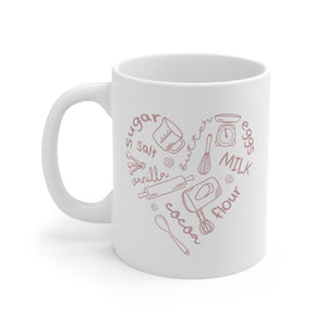 Baker's Heart Mug (11oz) - Lexis Rose Store - Buy Today!