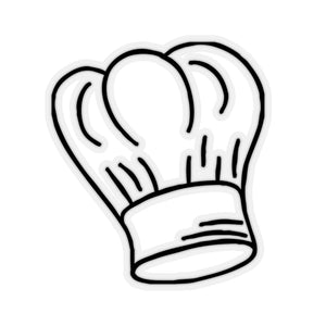Chef's Hat Sticker - Lexis Rose Store - Buy Today!
