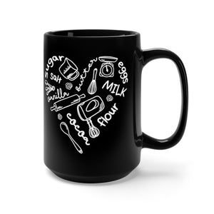 Baker's Heart Black Mug (15oz) - Lexis Rose Store - Buy Today!