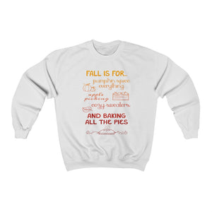 """Fall Is For..."" Cozy Crewneck Sweatshirt - Lexis Rose Store - Buy Today!"