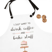 "Load image into Gallery viewer, ""Drink Coffee & Bake Stuff"" Apron - Lexis Rose Store - Buy Today!"