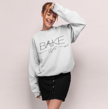 "Load image into Gallery viewer, ""Bake Life"" Crewneck Sweatshirt - Lexis Rose Store - Buy Today!"