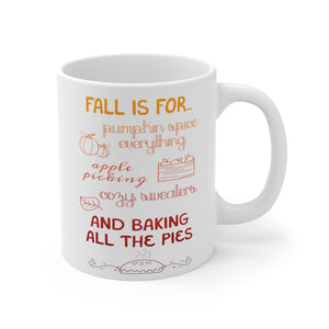 """Fall Is For..."" 11oz Mug - Lexis Rose Store - Buy Today!"