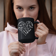 Load image into Gallery viewer, Baker's Heart Black Mug (15oz) - Lexis Rose Store - Buy Today!