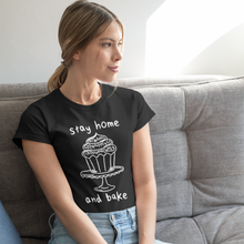 "Load image into Gallery viewer, ""Stay Home and Bake"" Short Sleeve Tee - Lexis Rose Store - Buy Today!"