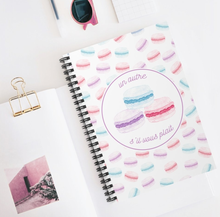 "Load image into Gallery viewer, Macaron ""One More, Please"" Spiral Notebook - Lexis Rose Store - Buy Today!"