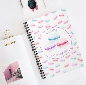 "Macaron ""One More, Please"" Spiral Notebook - Lexis Rose Store - Buy Today!"