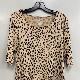 Primary Photo - BRAND: APT 9 STYLE: TOP SHORT SLEEVE BASIC COLOR: ANIMAL PRINT SIZE: L SKU: 313-31311-33242