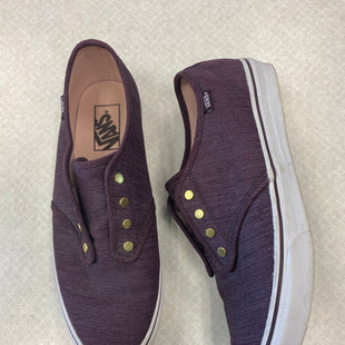 Primary Photo - BRAND: VANS STYLE: SHOES FLATS COLOR: MAROON SIZE: 9.5 SKU: 313-31349-5325