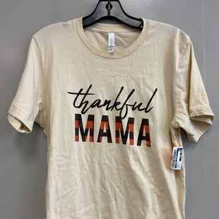 Primary Photo - BRAND:    CLOTHES MENTOR STYLE: TOP SHORT SLEEVE COLOR: THANKSGIVING SIZE: M OTHER INFO: CANVA - SKU: 313-31311-32060