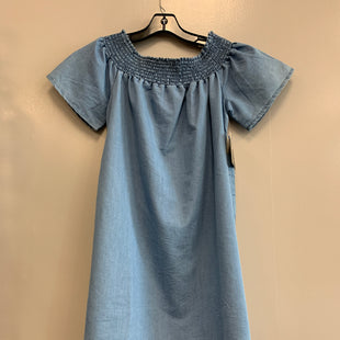 Primary Photo - BRAND: MLLE GABRIELLE STYLE: DRESS SHORT SHORT SLEEVE COLOR: DENIM SIZE: S SKU: 313-31332-8991