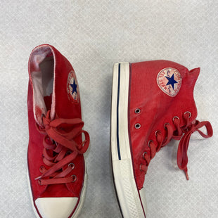 Primary Photo - BRAND: CONVERSE STYLE: SHOES ATHLETIC COLOR: RED SIZE: 9 SKU: 313-31311-30114