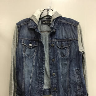 Primary Photo - BRAND: EXPRESS STYLE: BLAZER JACKET COLOR: DENIM SIZE: M SKU: 313-31344-19594