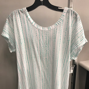 Primary Photo - BRAND: CHRISTOPHER AND BANKS STYLE: TOP SHORT SLEEVE COLOR: TURQUOISE SIZE: L SKU: 313-31344-12383