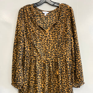 Primary Photo - BRAND: TIME AND TRU STYLE: DRESS SHORT LONG SLEEVE COLOR: ANIMAL PRINT SIZE: M SKU: 313-31344-17037