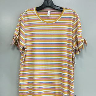 Primary Photo - BRAND:    CLOTHES MENTOR STYLE: TOP SHORT SLEEVE COLOR: STRIPED SIZE: L OTHER INFO: L LOVE - SKU: 313-31344-14377