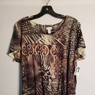 Primary Photo - BRAND: CHICOS STYLE: TOP SHORT SLEEVE COLOR: PRINT SIZE: XL SKU: 313-31328-23799