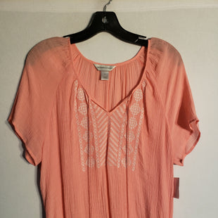 Primary Photo - BRAND: CHRISTOPHER AND BANKS STYLE: TOP SHORT SLEEVE COLOR: PINK SIZE: XL SKU: 313-31328-23913