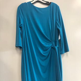 Primary Photo - BRAND:    CLOTHES MENTOR STYLE: DRESS SHORT LONG SLEEVE COLOR: TURQUOISE SIZE: XL OTHER INFO: CHETTA B - SKU: 313-31344-15852