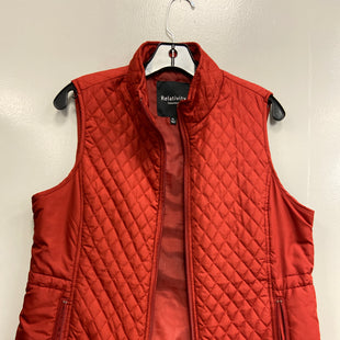 Primary Photo - BRAND: RELATIVITY STYLE: VEST COLOR: ORANGE SIZE: PETITE LARGE SKU: 313-31332-5828