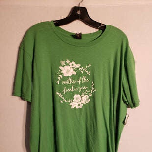 Primary Photo - BRAND:    CLOTHES MENTOR STYLE: TOP SHORT SLEEVE COLOR: GREEN SIZE: XL SKU: 313-31328-23831