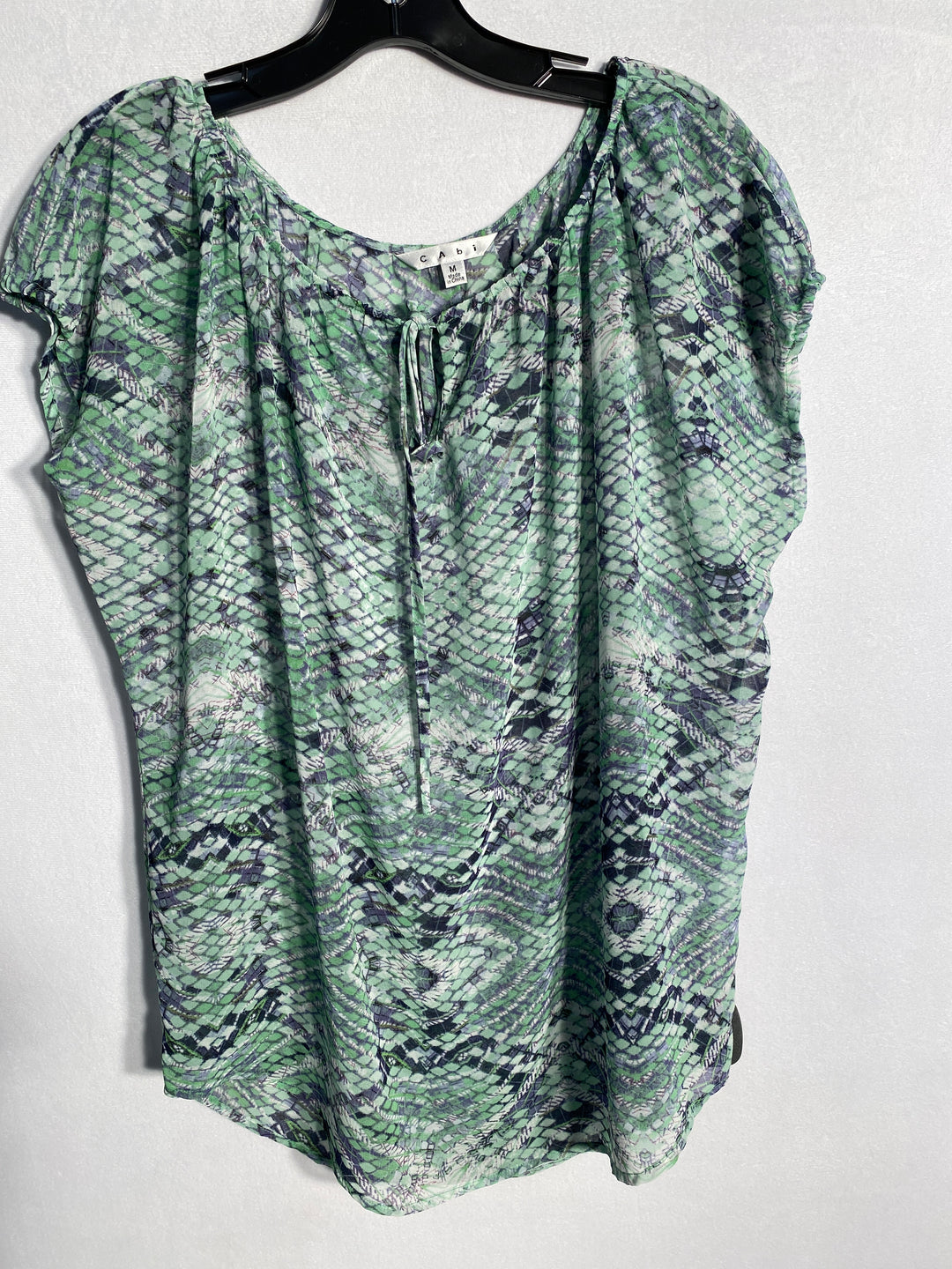 Primary Photo - BRAND: CABI<BR>STYLE: TOP SHORT SLEEVE<BR>COLOR: GREEN<BR>SIZE: M<BR>SKU: 313-31328-18804