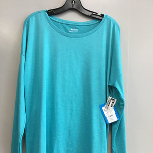 Primary Photo - BRAND: COLUMBIA STYLE: ATHLETIC TOP COLOR: TURQUOISE SIZE: XL SKU: 313-31344-12500