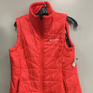 Primary Photo - BRAND: COLUMBIA STYLE: VEST DOWN COLOR: CORAL SIZE: L SKU: 313-31344-18557