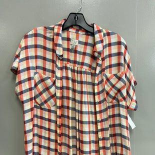 Primary Photo - BRAND: A NEW DAY STYLE: TOP SHORT SLEEVE COLOR: PLAID SIZE: M SKU: 313-31344-16484