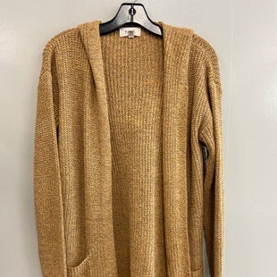 Primary Photo - BRAND:    CLOTHES MENTOR STYLE: SWEATER CARDIGAN LIGHTWEIGHT COLOR: TAN SIZE: S OTHER INFO: BECOOL - SKU: 313-31332-10436