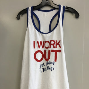 Primary Photo - BRAND: ATHLETIC WORKS STYLE: ATHLETIC TANK TOP COLOR: WHITE BLUE SIZE: XL SKU: 313-31349-2732