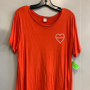 Primary Photo - BRAND: OLD NAVY STYLE: TOP SHORT SLEEVE BASIC COLOR: ORANGE SIZE: XL SKU: 313-31332-6956