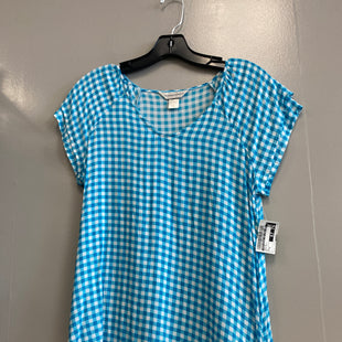 Primary Photo - BRAND: CHRISTOPHER AND BANKS STYLE: TOP SHORT SLEEVE COLOR: BLUE WHITE SIZE: S SKU: 313-31332-6809
