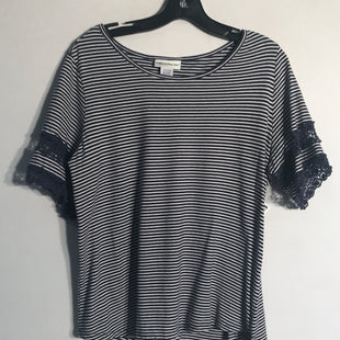 Primary Photo - BRAND: REBECCA MALONE STYLE: TOP SHORT SLEEVE COLOR: STRIPED SIZE: L SKU: 313-31344-7799