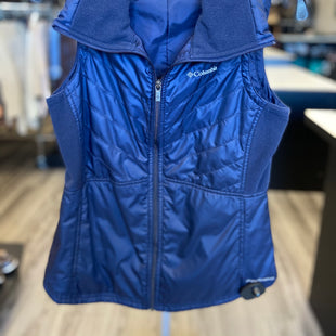Primary Photo - BRAND: COLUMBIA STYLE: VEST DOWN COLOR: BLUE SIZE: XS SKU: 313-31344-13731