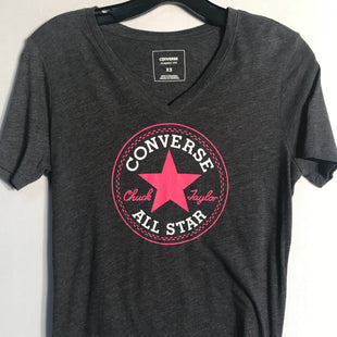 Primary Photo - BRAND: CONVERSE STYLE: TOP SHORT SLEEVE BASIC COLOR: GREY SIZE: XS SKU: 313-31344-9944
