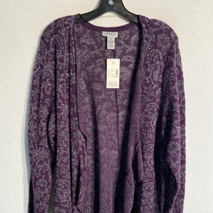 Primary Photo - BRAND: CATHERINES STYLE: SWEATER CARDIGAN LIGHTWEIGHT COLOR: PURPLE SIZE: 2X SKU: 313-31311-24852