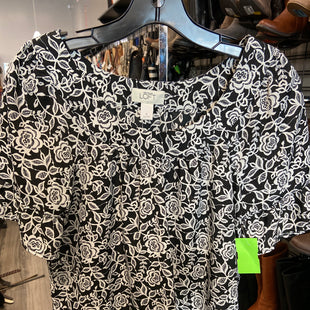 Primary Photo - BRAND: ANN TAYLOR LOFT STYLE: TOP SHORT SLEEVE COLOR: BLACK WHITE SIZE: S SKU: 313-31328-33804