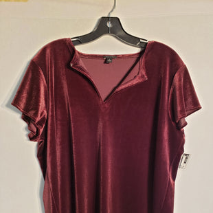 Primary Photo - BRAND: ANN TAYLOR STYLE: TOP SHORT SLEEVE COLOR: VELVET SIZE: XL SKU: 313-31328-23836