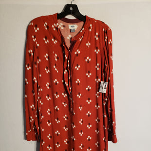 Primary Photo - BRAND: OLD NAVY STYLE: DRESS SHORT LONG SLEEVE COLOR: RED SIZE: XS SKU: 313-31328-31124