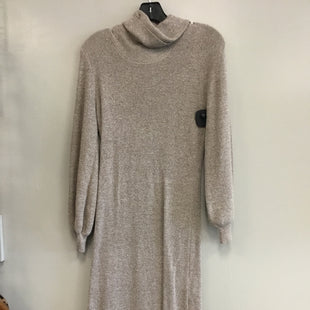 Primary Photo - BRAND: HIPPIE ROSE STYLE: DRESS LONG LONG SLEEVE COLOR: TAN SIZE: M SKU: 313-31349-3310