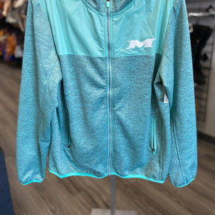 Primary Photo - BRAND:    CLOTHES MENTOR STYLE: ATHLETIC JACKET COLOR: BLUE GREEN SIZE: M SKU: 313-31328-37087