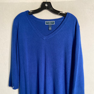 Primary Photo - BRAND: KAREN SCOTT STYLE: SWEATER LIGHTWEIGHT COLOR: ROYAL BLUE SIZE: 1X SKU: 313-31344-9563