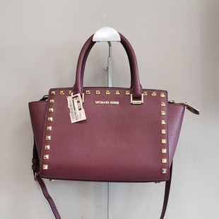 Primary Photo - BRAND: MICHAEL KORS STYLE: HANDBAG DESIGNER COLOR: MAROON SIZE: MEDIUM SKU: 313-31328-32200