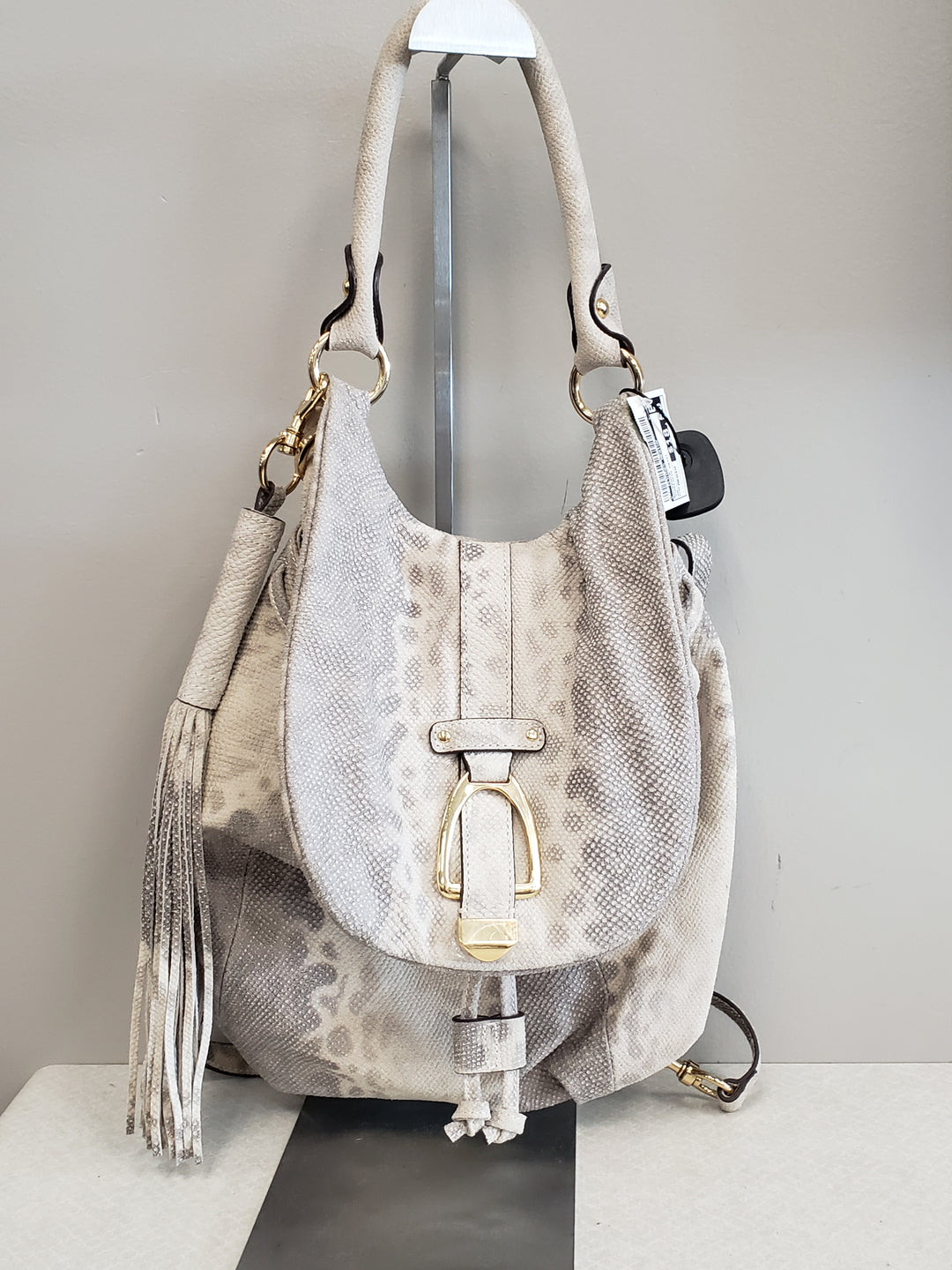 Primary Photo - BRAND:    CLOTHES MENTOR <BR>STYLE: BACKPACK <BR>COLOR: SNAKESKIN PRINT <BR>SIZE: MEDIUM <BR>OTHER INFO: CM - <BR>SKU: 313-31349-562
