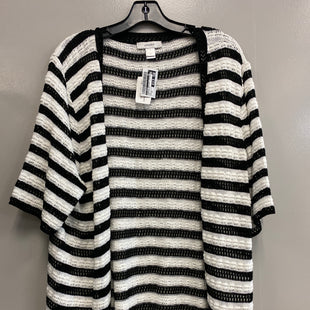 Primary Photo - BRAND: CJ BANKS STYLE: SWEATER CARDIGAN LIGHTWEIGHT COLOR: BLACK WHITE SIZE: 3X SKU: 313-31328-35015