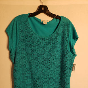 Primary Photo - BRAND: LIZ CLAIBORNE STYLE: TOP SHORT SLEEVE COLOR: TEAL SIZE: XL SKU: 313-31328-23248