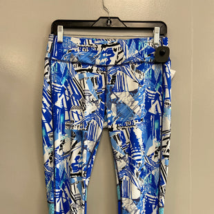 Primary Photo - BRAND: DANSKIN NOW STYLE: ATHLETIC CAPRIS COLOR: BLUE WHITE SIZE: M SKU: 313-31328-36775